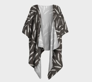 Aperçu de Rebel Draped Kimono in Coal