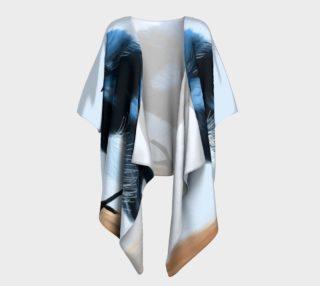 Blue Wren Draped Kimono preview