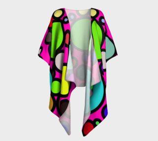 Circles Galore Draped Kimono preview