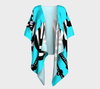 Zebra Both Ends Draped Kimono preview