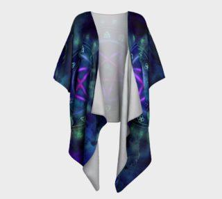 Aperçu de Midnight Pentacle Pagan Art Kimono by Tabz Jones