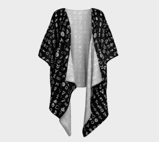 Aperçu de Black Alchemy Draped Kimono