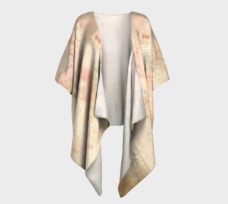 Another vintage world map draped kimono preview
