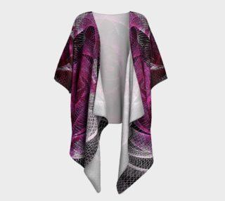 Aperçu de Rose Spiral Draped Kimono