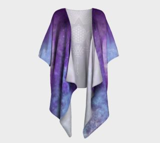 Flower of Life Geometry Moon Boho Purple Kimono preview