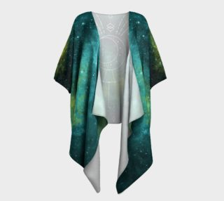 Blue green moon celestial geometric kimono preview