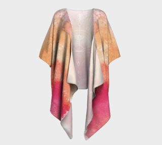Peach watercolor gradient sunrise geometry kimono preview