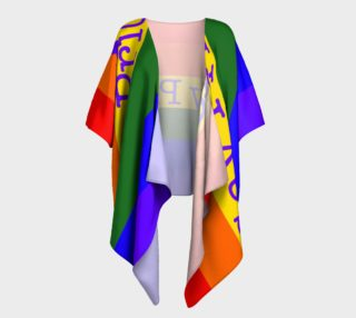 Gay Pride Love Draped Kimono preview