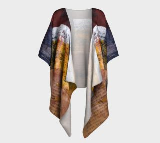 Ancient Text Draped Kimono preview