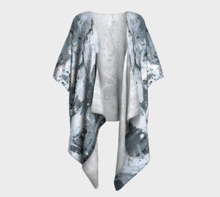 Black and White Splatter Draped Kimono preview