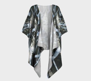 Black and White Draped Kimono preview