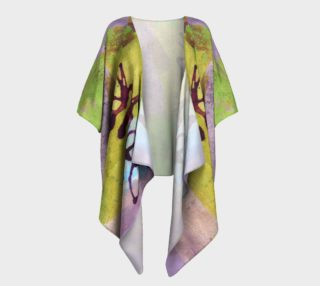 Purple and Green Draped Kimono preview