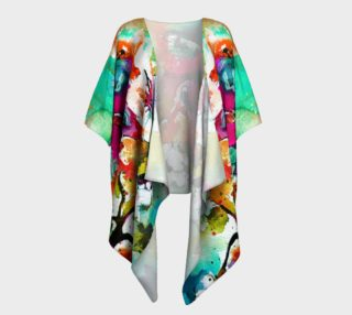 Pink Butterfly Draped Kimono preview