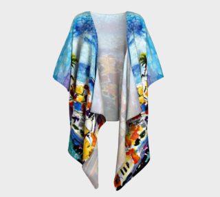 Aperçu de Vernazza Italy Draped Kimono