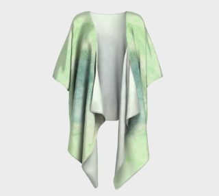 Green Dimension Flower Draped Kimono preview