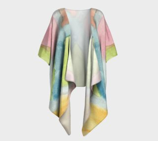 Pastel Stained Glass Draped Kimono preview