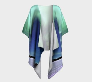 Swirling Northern Lights Draped Kimono preview