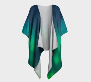 Aperçu de Vivid Northern Lights Draped Kimono