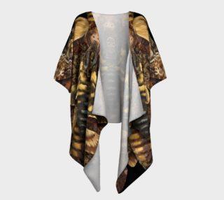 Aperçu de Mondo Death's Head Moth Draped Kimono