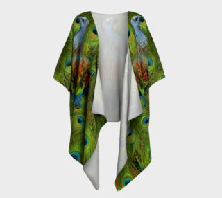 Aperçu de Nicobar-Peacock Fantasy Draped Kimono