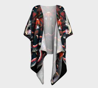 Aperçu de Mondo Cecropia Moth Draped Kimono
