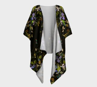 Midnight Garden Draped Kimono preview