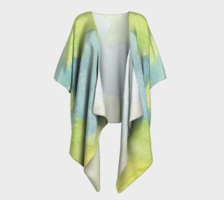 Flowers in Stained Glass Draped Kimono preview