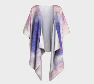 Pastel Floral Dream Draped Kimono preview