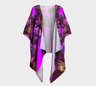 I Love Purple Draped Kimono    preview