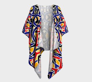 Incan Maze Draped Kimono preview