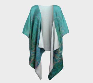 Ombre Boho Aura Blue Draped Kimono preview