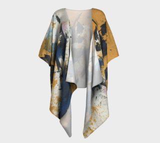 Ocher and blue draped kimono preview
