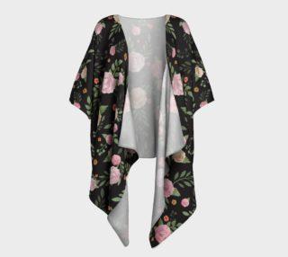 Black Floral Draped Kimono preview