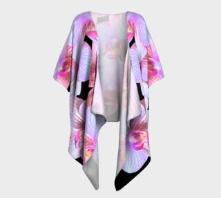 Nighttime Orchids Kimono Drape preview