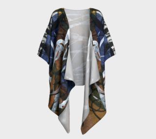 Blue and Brown asemic draped kimono preview