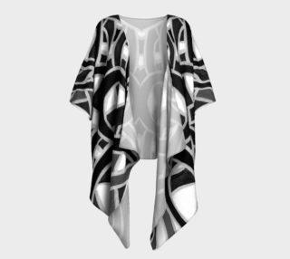 Black & White Ribbon Drape Kimono  preview