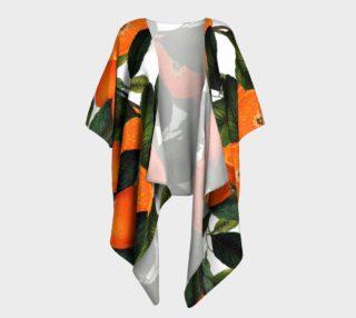 The Forbidden Orange Draped Kimono preview