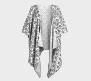 Black and White Damask Draped Kimono preview