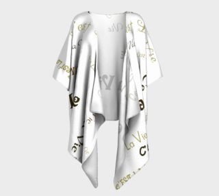 Aperçu de Mocha C'est la Vie Draped Kimono