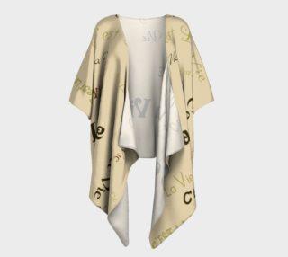 Aperçu de Coffee C'est la Vie Draped Kimono
