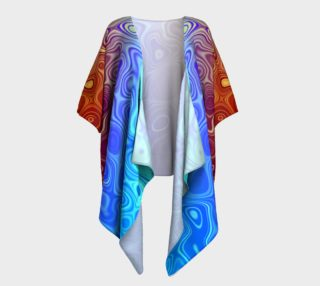 Blood and Water Abstract Draped Kimono preview