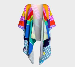 Psych World - draped kimono preview