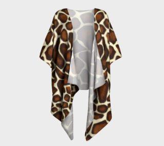 Giraffe Spots Draped Kimono preview