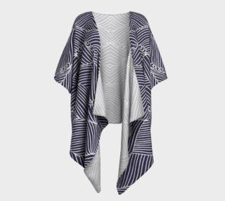 Blue Draped Kimono preview