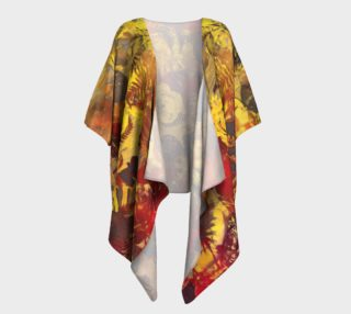 draped kimono  flowers preview