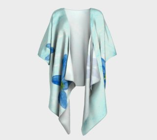 Simply Blue Flowers Draped Kimono preview