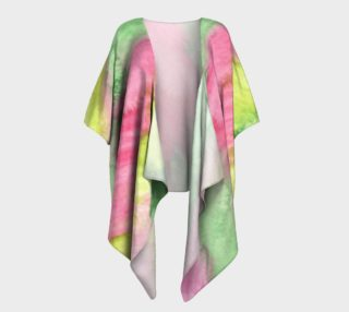 Floral Stained Glass Draped Kimono preview