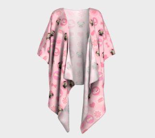Aperçu de Fawn Pugs - Pastel Pink Valentine's Kimono
