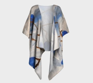 Azur Floraison Draped Kimono preview