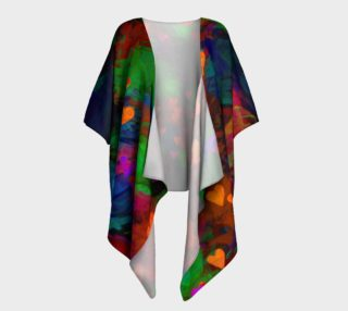 Wrapped in Painted Hearts Draped Kimono preview
